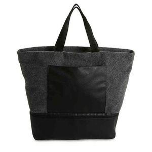 Gray felt tote NEW